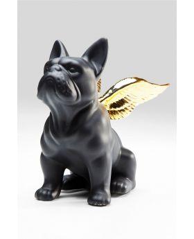 Deco Figur Sitting Angeldog -Bgold/Black