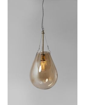 HANGING LAMP DUSTY BELL GOLD SMALL