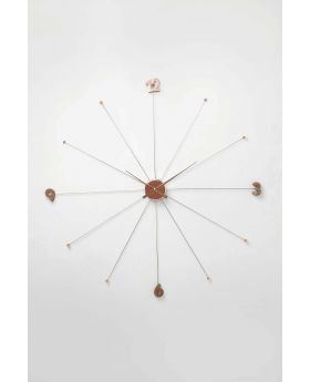 Wall Clock Like Umbrella Rose Goldcopper