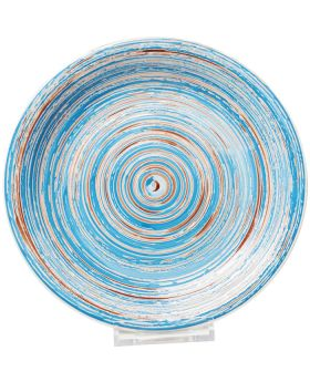 Plate Swirl  DIA27Cmblue