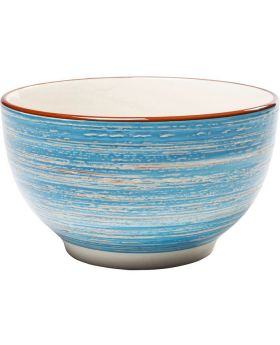 Cereal Bowl Swirl  DIA14Cmblue