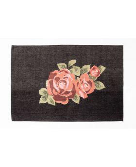 Carpet Roses Black 240X170Cm