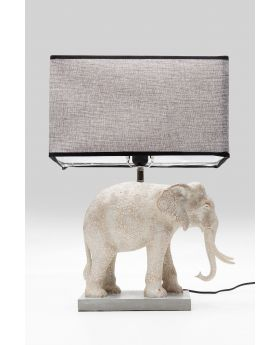 TABLE LAMP ELEPHANT,GREY  (EXCLUDING BULB)