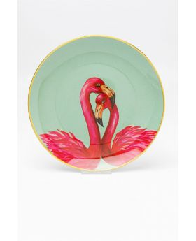 Deco Plate Flamingo Couple Dia27Cm