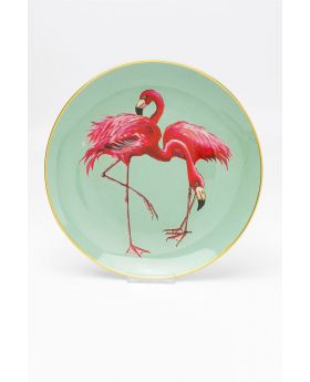 Deco Plate Flamingo Group Dia27Cm