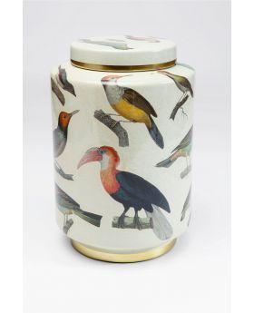 DECO JAR BIRDS 33CM