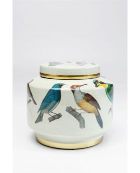 DECO JAR BIRDS 20CM