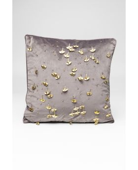 CUSHION GINGKO GREY 45X45CM