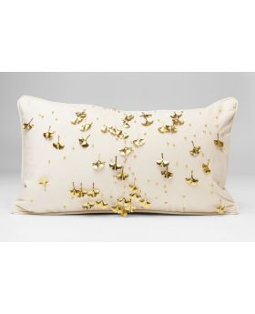CUSHION GINGKO BEIGE 28X50CM