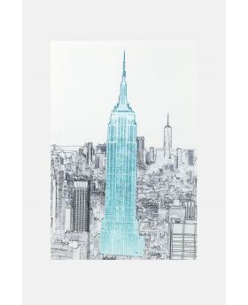 PICTUREGLASS DRAWING EMPIRESTATEBUILDING