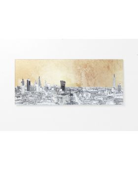 PICTUREGLASS METALLICLONDONVIEW 50X120CM