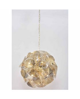PENDANT LAMP LEAF GOLD BALL (EXCLUDING BULB)