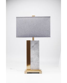 TABLE LAMP CHARLESTON MARBLE 80CM (EXCLUDING BULB)