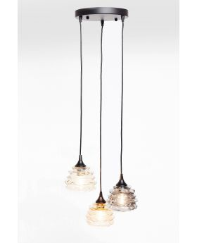 PENDANT LAMP  RUFFLE VISIBLE DIA 37CM  (EXCLUDING BULB AND SOCKET)