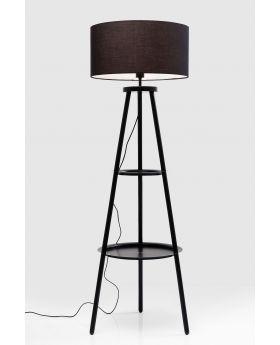 FLOOR LAMP TRIPOT STEPS,BLACK  (EXCLUDING BULB)