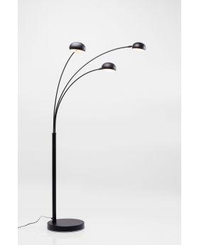 FLOOR LAMP  THREE FINGERS BLACK MATT  (EXCLUDING BULB)