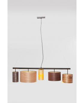 PENDANT LAMP PARECCHI WOOD COLORE 140CM  (EXCLUDING BULB AND SOCKET)