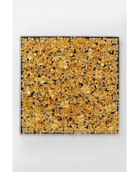 DECO FRAME GOLD FLOWER 80X80CM