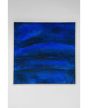 Acrylic Painting Abstract Deep Blue