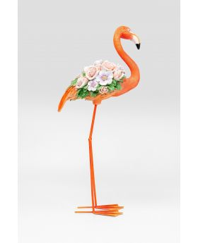 DECO OBJECT FLAMINGO FLOWER POWER ORANGE