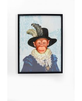 Picture Frame Art Monkey Sir 80X60Cm