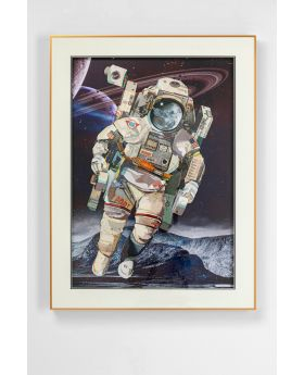 PICTURE FRAME ART ASTRONAUT 100X75CM