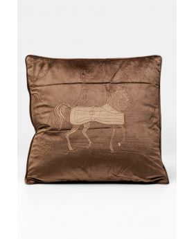 Cushion Applique Horse 50X28Cm