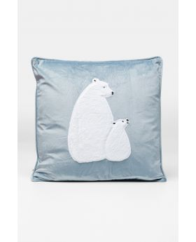 CUSHION POLAR BEAR FAMILY 50X28CM