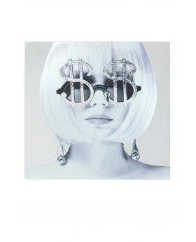 Picture Glas Metallic Dollar Girl120X120