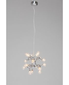 PENDANT LAMP MOLECULE DIA56CM,SILVERY  (EXCLUDING BULB AND SOCKET)