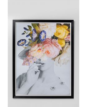 Picture Frame Flower Lady Pastel