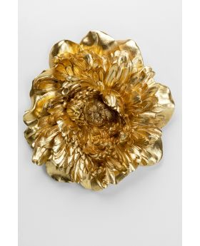 Wall Decoration Peony Gold