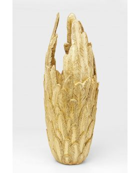 VASE FEATHERS GOLD 91CM,GOLDEN