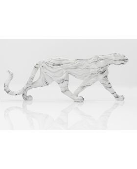 DECO OBJECT LEOPARD MARBLE 129CM