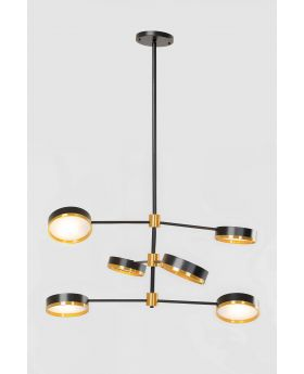 PENDANT LAMP LUPO SIX,BLACK  (EXCLUDING BULB AND SOCKET)