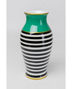 VASE STRIPES HORIZONTAL 52CM,GREEN