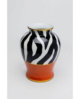 Vase Zebra Ornament 38Cm