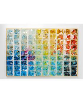 DECO FRAME RAINBOW FIELDS 100X150CM,BLUE