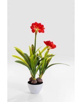Deco Plant Amaryllis Red 98Cm
