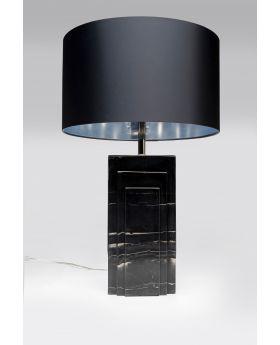 TABLE LAMP RUMBA MARBLE BLACK  (EXCLUDING BULB)