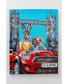 PICTURE TOUCHED ANIMAL PAIR LONDON 80X60