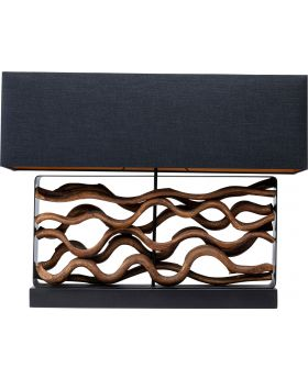 Table Lamp Nature Wave,Black (Excluding Bulb)