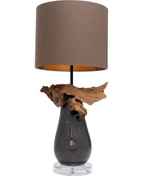 Table Lamp Nature Face,Brown (Excluding Bulb)
