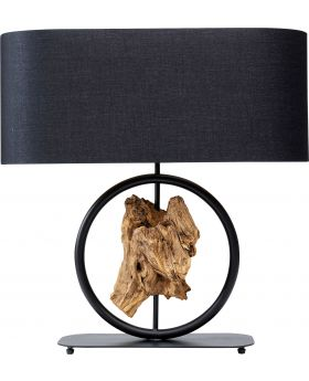 Table Lamp Nature Circle,Black (Excluding Bulb)