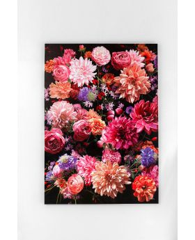 Picture Touched Flower Bouquet Multicol