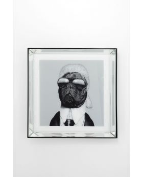 Pictureframe Mirror Designer Dog 60X60Cm