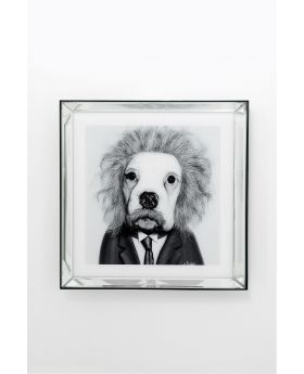 Picture Frame Mirror Smart Dog 60X60Cm