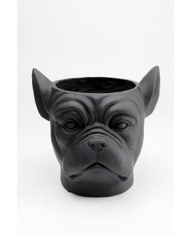 Deco Planter Bulldog Black