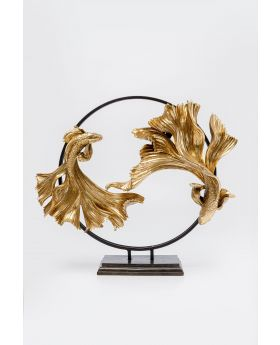DECO OBJECT DANCING BETTA FISHES GOLDEN