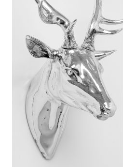 WALL DECORATION DEER SILVER